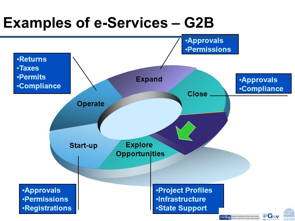 Examples of e-Services – G2B