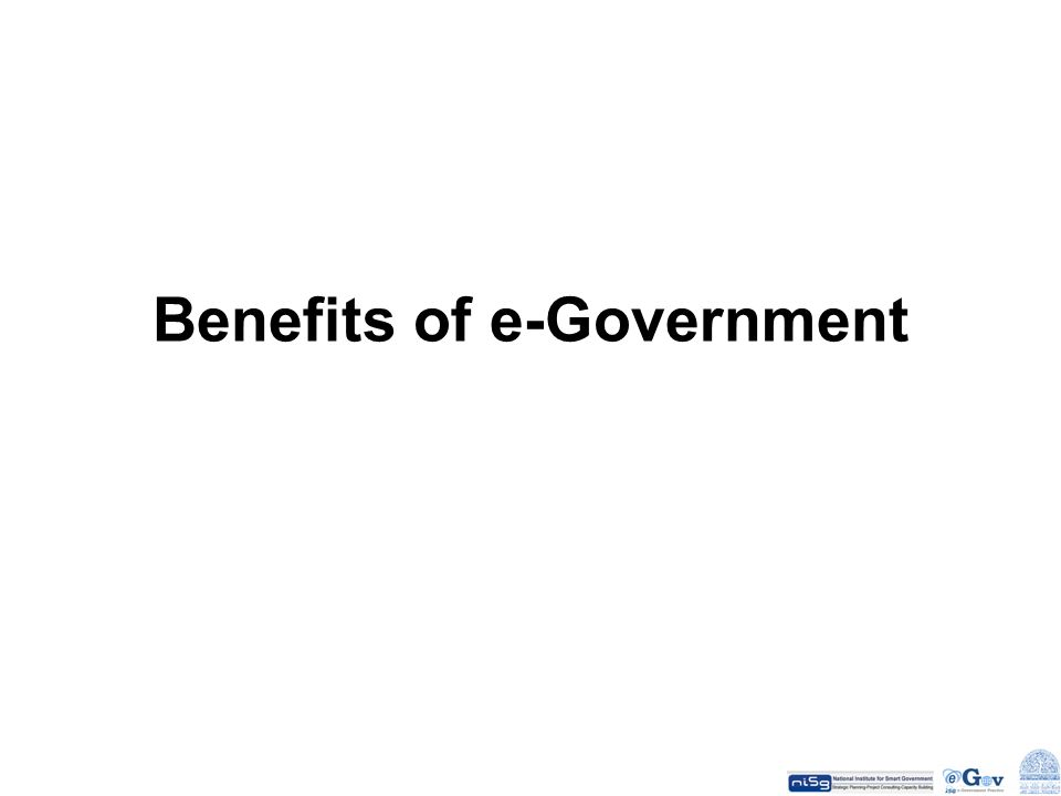 Benefits of e-Government