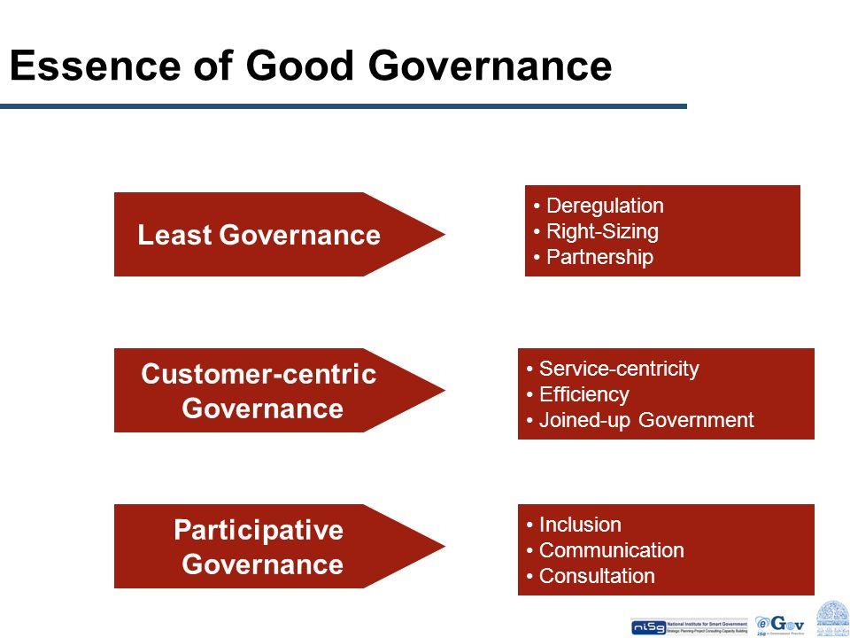 Essence of Good Governance