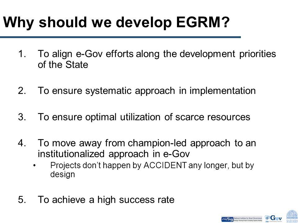 Why should we develop EGRM