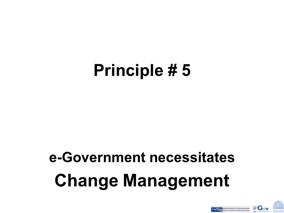 e-Government necessitates Change Management