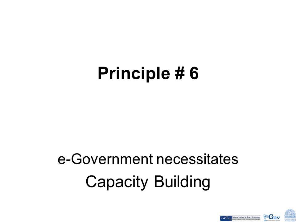 e-Government necessitates Capacity Building