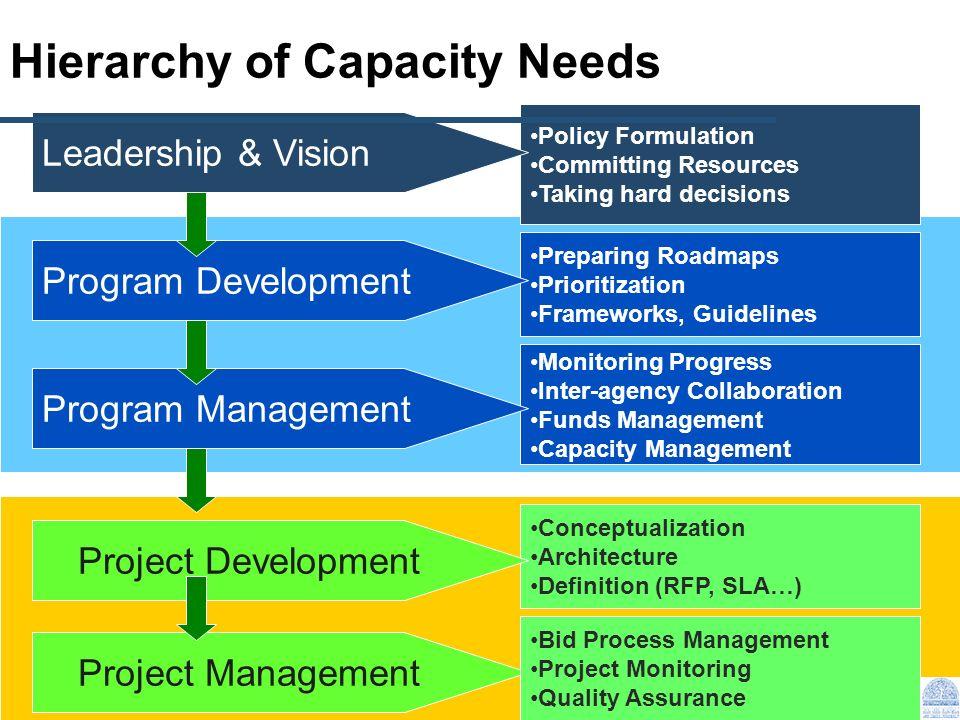 Hierarchy of Capacity Needs