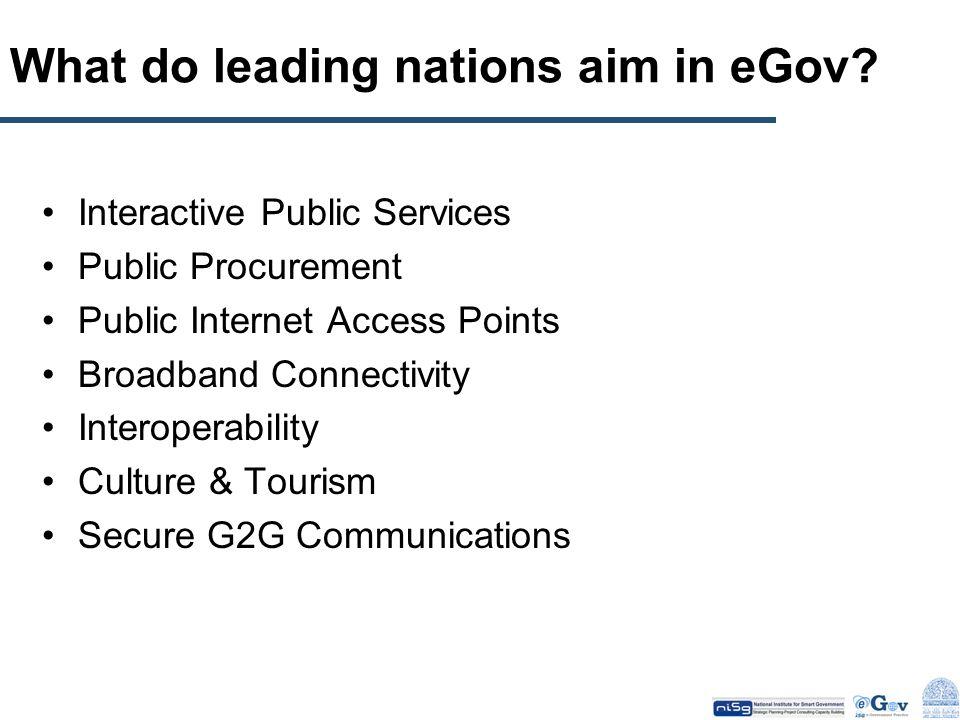 What do leading nations aim in eGov