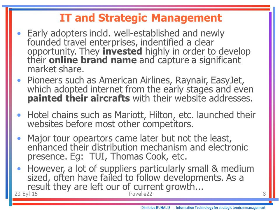 strategic management of scottish tourism and Absence of strong advertising and promotion strategies the influence of stake holders in scottish tourism can give given in the matrix against power and interest of stake holders ms in tourism and hospitality management.