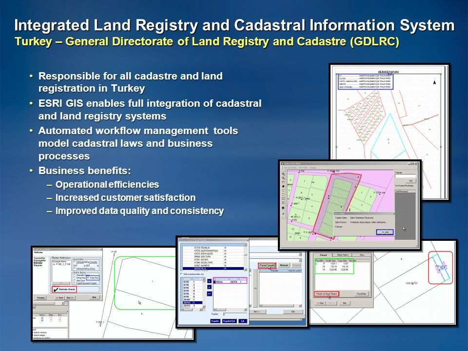 Integrated Land Registry and Cadastral Information System Turkey – General Directorate of Land Registry and Cadastre (GDLRC)