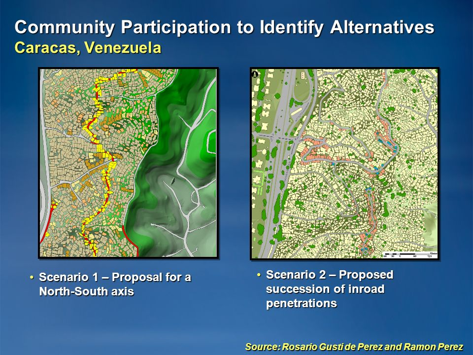 Community Participation to Identify Alternatives Caracas, Venezuela