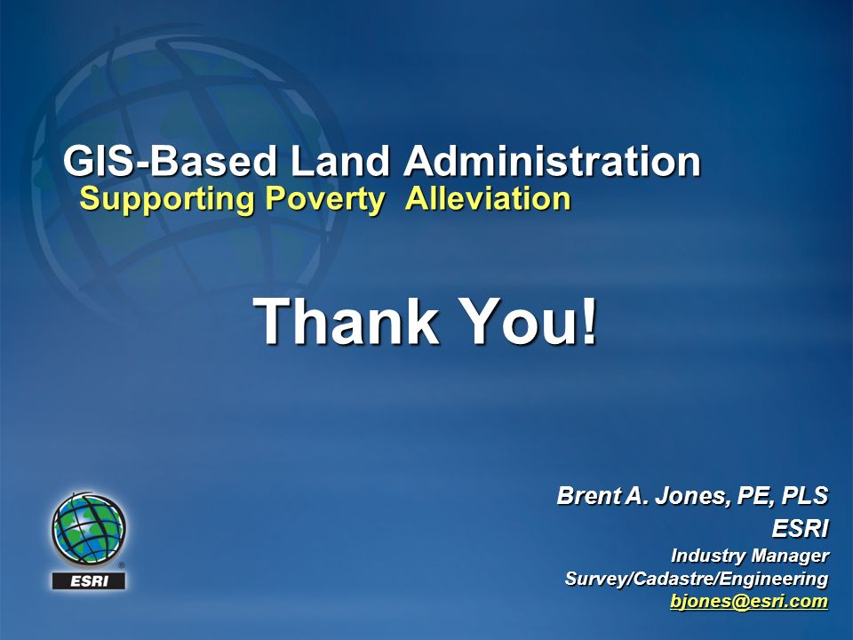 GIS-Based Land Administration Supporting Poverty Alleviation