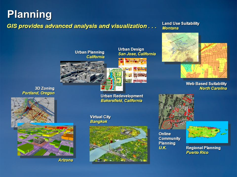 GIS provides advanced analysis and visualization . . .