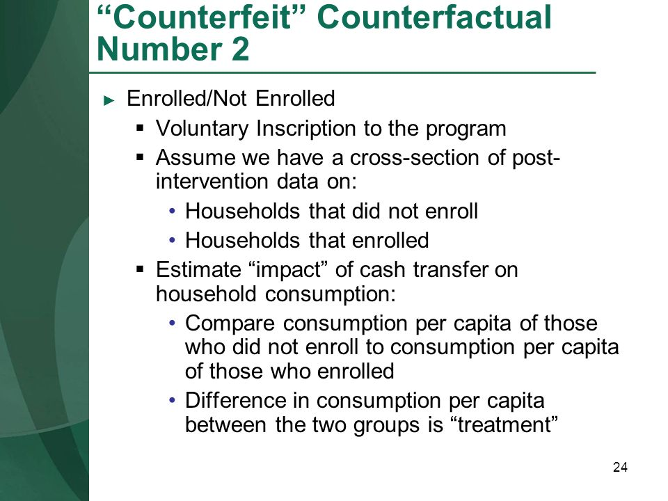 Counterfeit Counterfactual Number 2