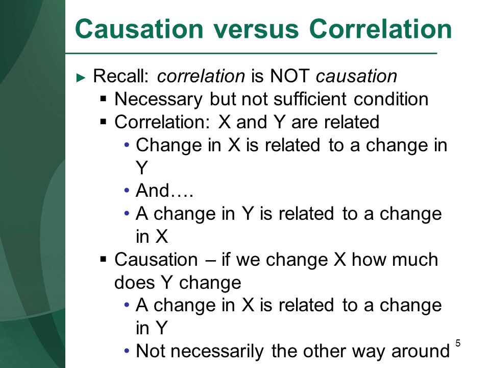 Causation versus Correlation