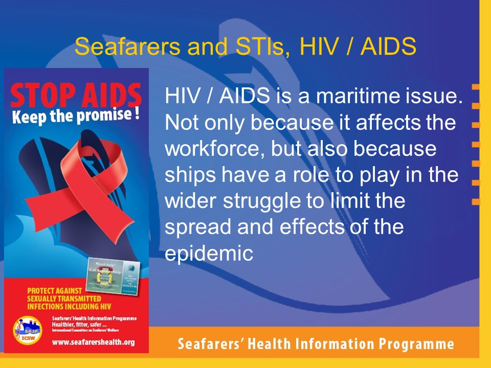 Seafarers and STIs, HIV / AIDS