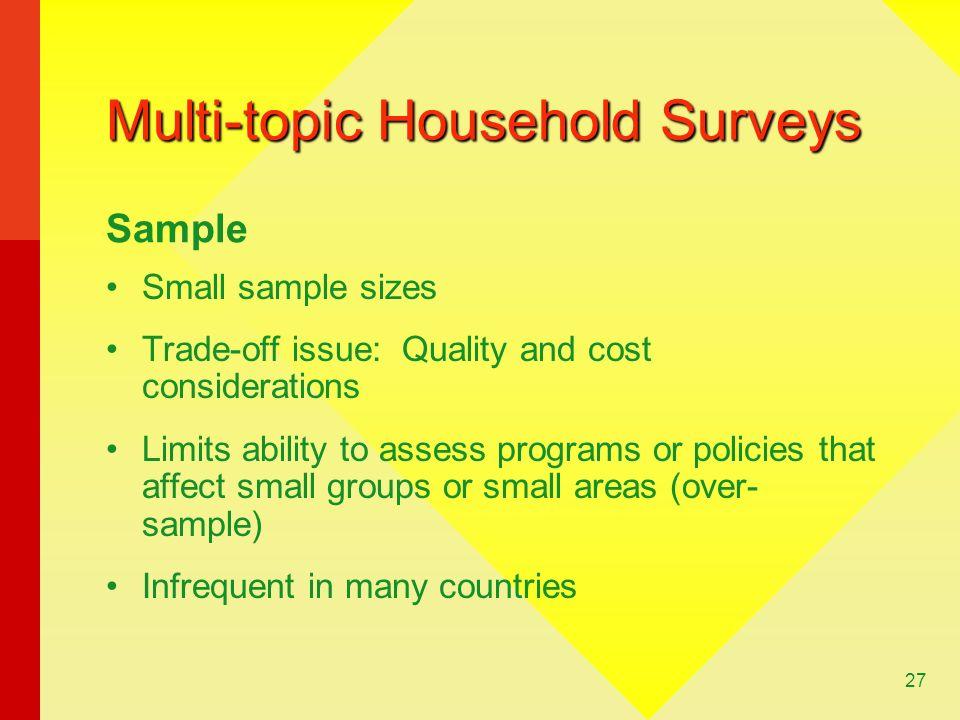 Multi-topic Household Surveys