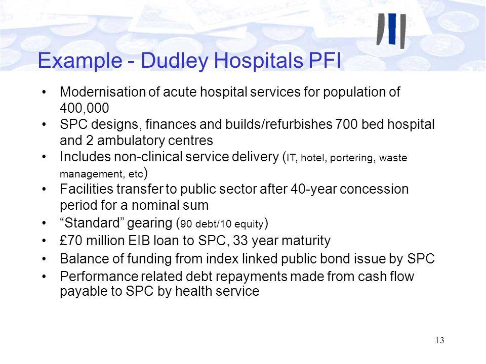 Example - Dudley Hospitals PFI