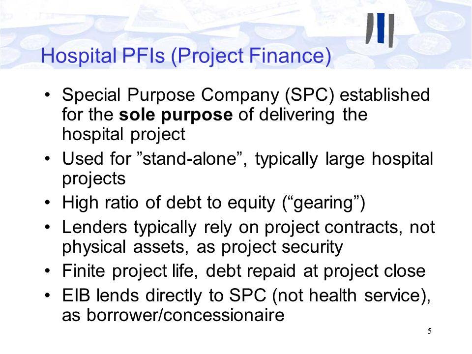 Hospital PFIs (Project Finance)