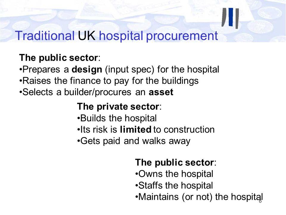 Traditional UK hospital procurement