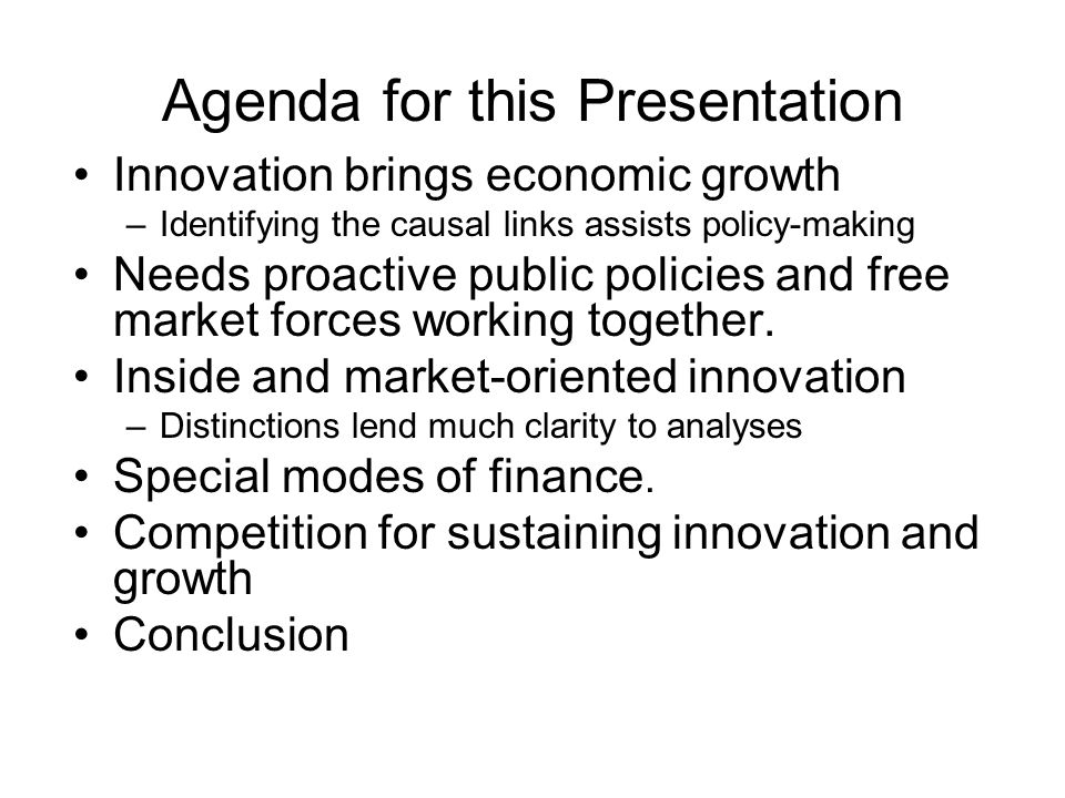 Agenda for this Presentation