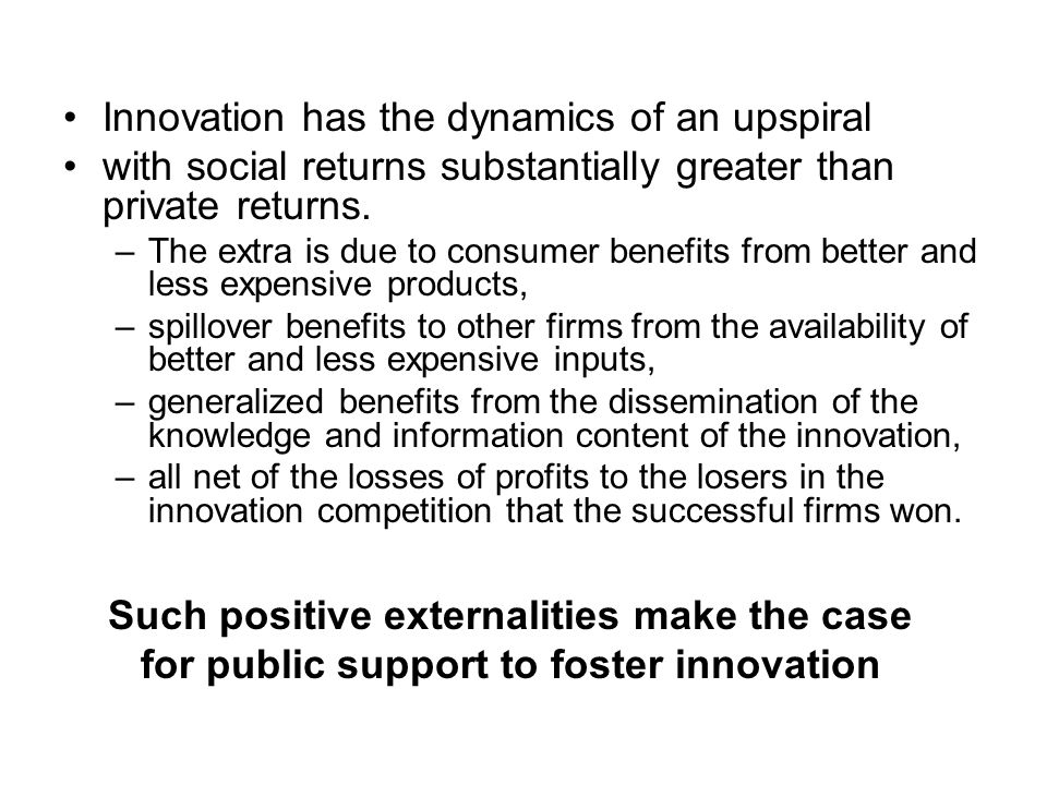 Innovation has the dynamics of an upspiral