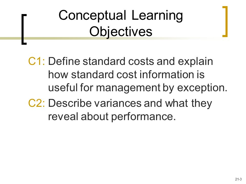 Conceptual Learning Objectives