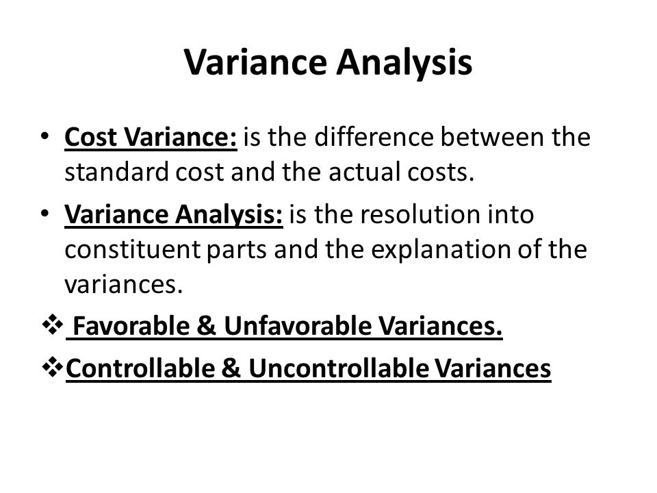 F2 - Chapter 16: Standard costing and variance analysis - 2017-18