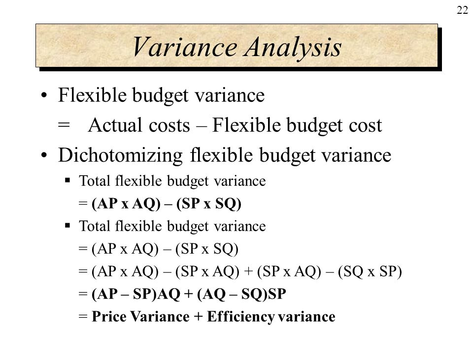 an interpretation of static and flexible budget variances This study offers a new framework for measuring and interpreting profit, cost, and   in contrast, the proposed flexible budget is a completely revised and ex post  optimal  (1) an ex post optimal budget is a revision of the static budget using the .
