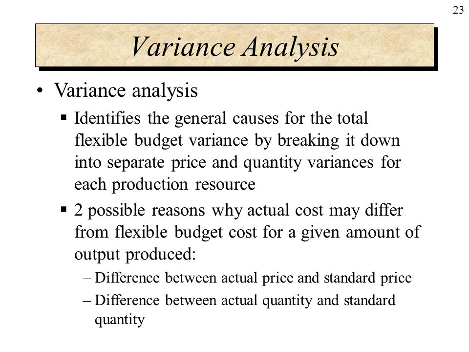 the general variance model General conduct and (generalized linear model) independent grouping variable simultaneously explains a statistically significant amount of variance in the.