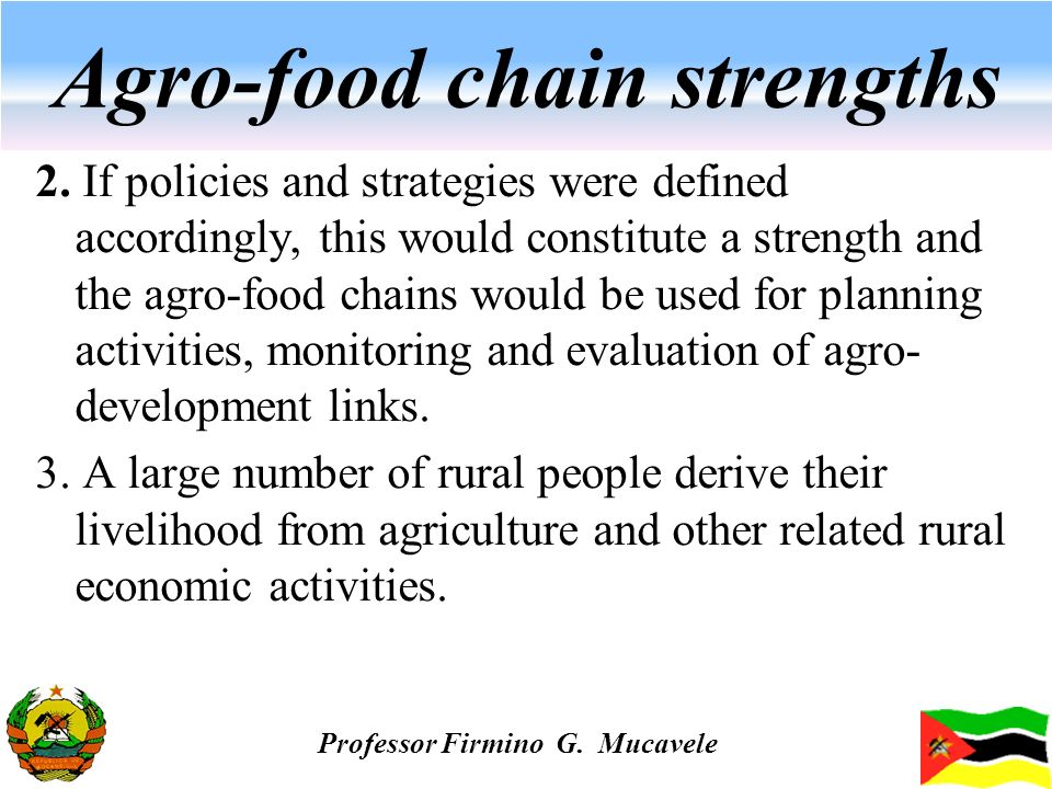 Agro-food chain strengths