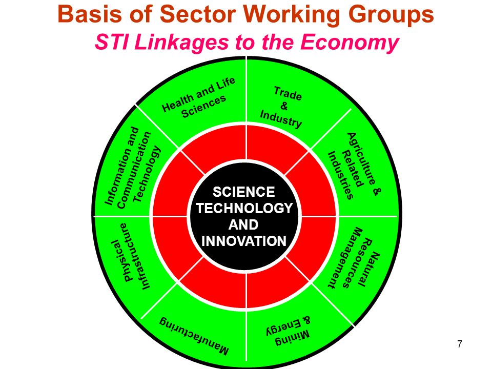 Basis of Sector Working Groups STI Linkages to the Economy