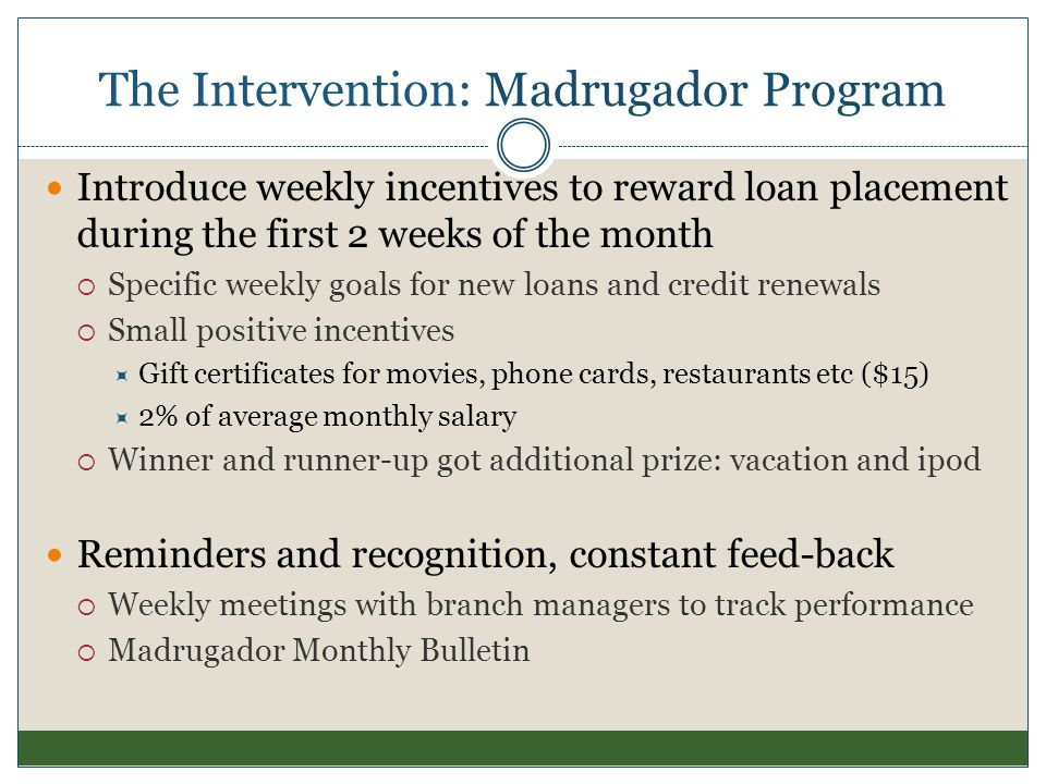 The Intervention: Madrugador Program