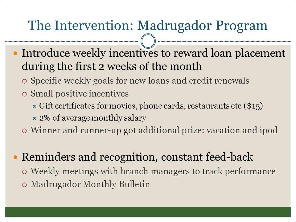 The Intervention: Madrugador Program