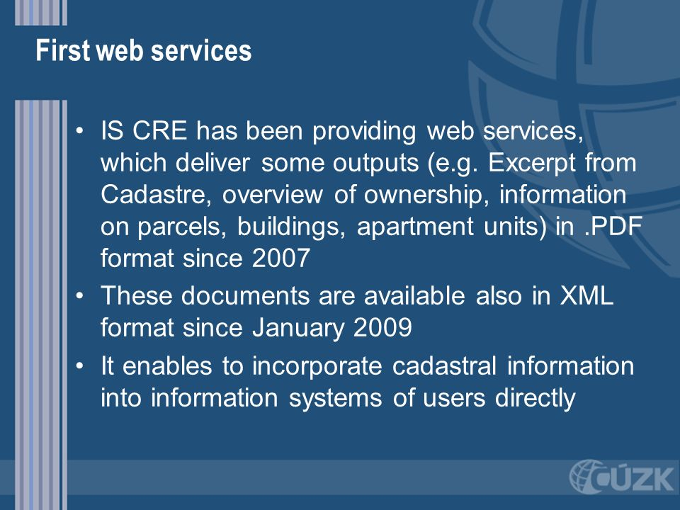 First web services