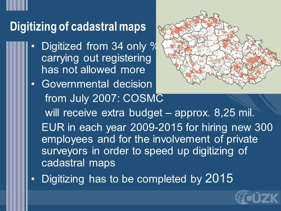 Digitizing of cadastral maps