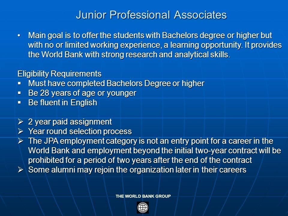 Junior Professional Associates