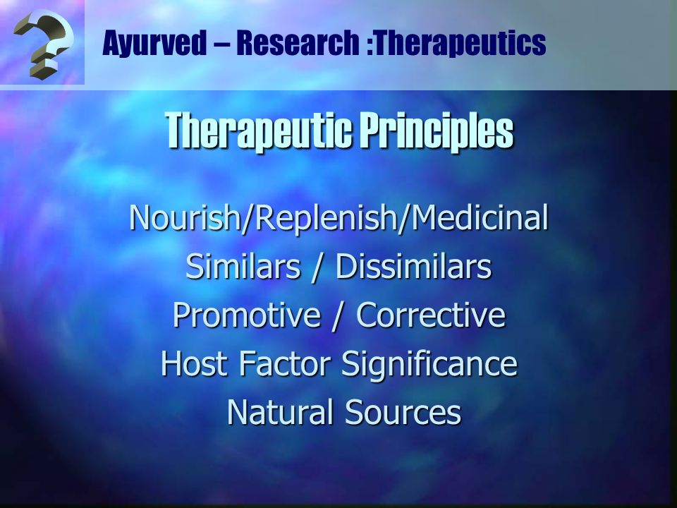 Therapeutic Principles