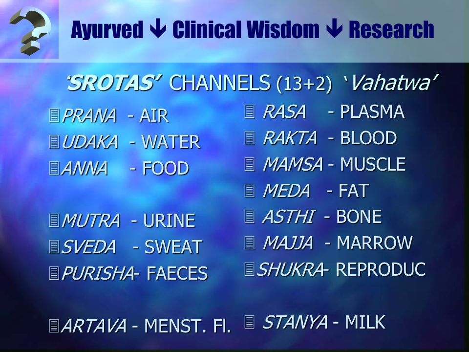'SROTAS' CHANNELS (13+2) 'Vahatwa'