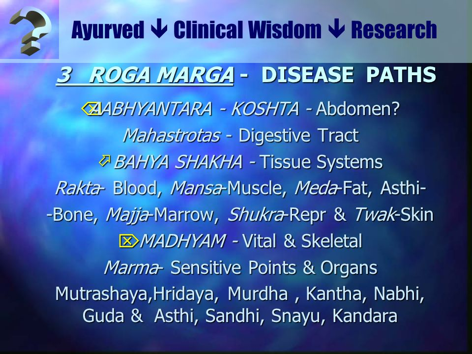 3 ROGA MARGA - DISEASE PATHS