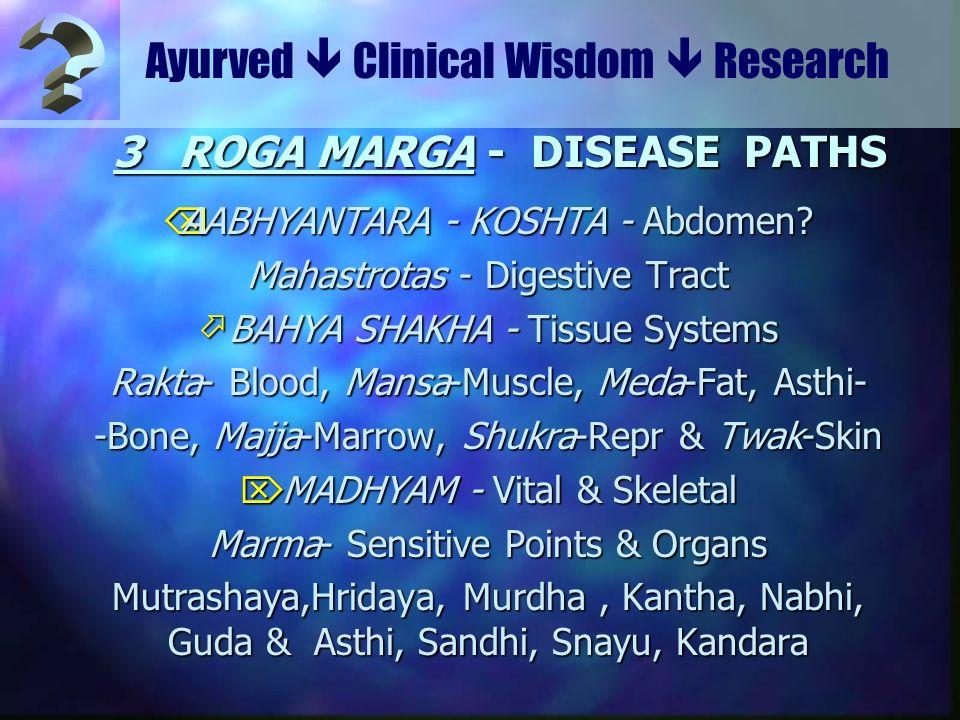 3 ROGA MARGA - DISEASE PATHS