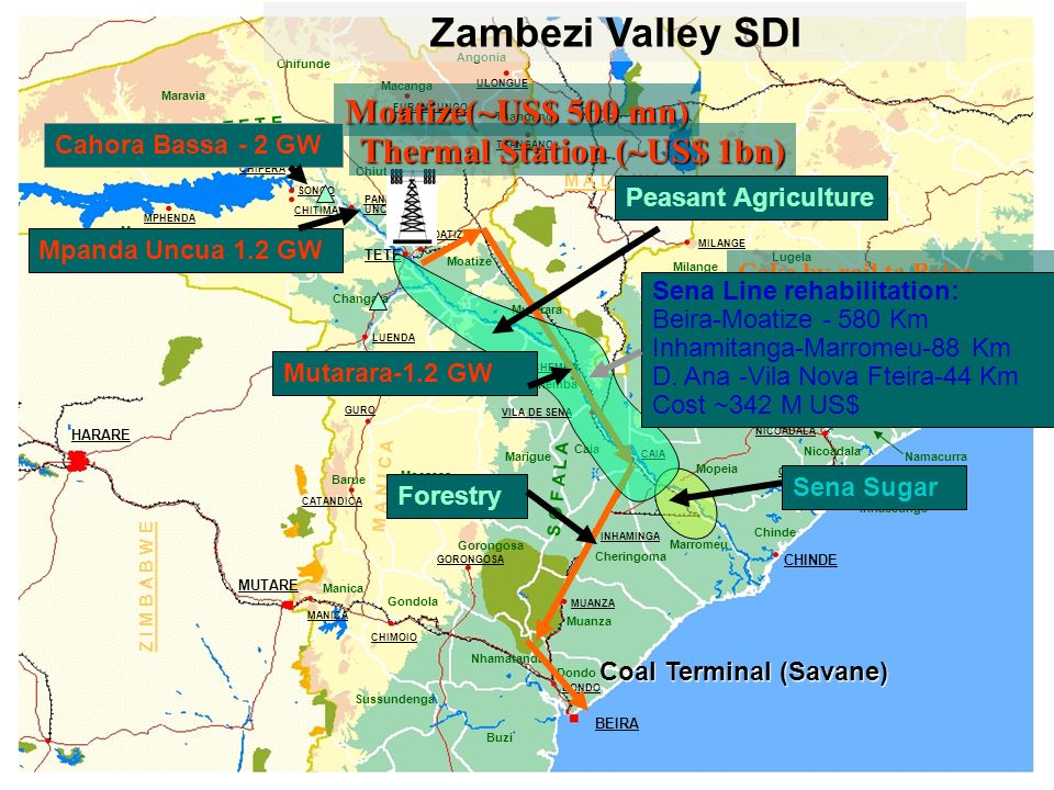 Zambezi Valley SDI Moatize(~US$ 500 mn) Thermal Station (~US$ 1bn)