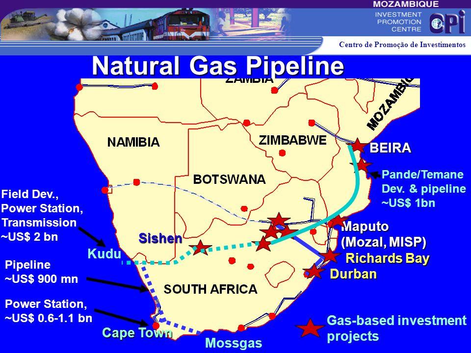 Natural Gas Pipeline BEIRA Maputo (Mozal, MISP) Sishen Kudu