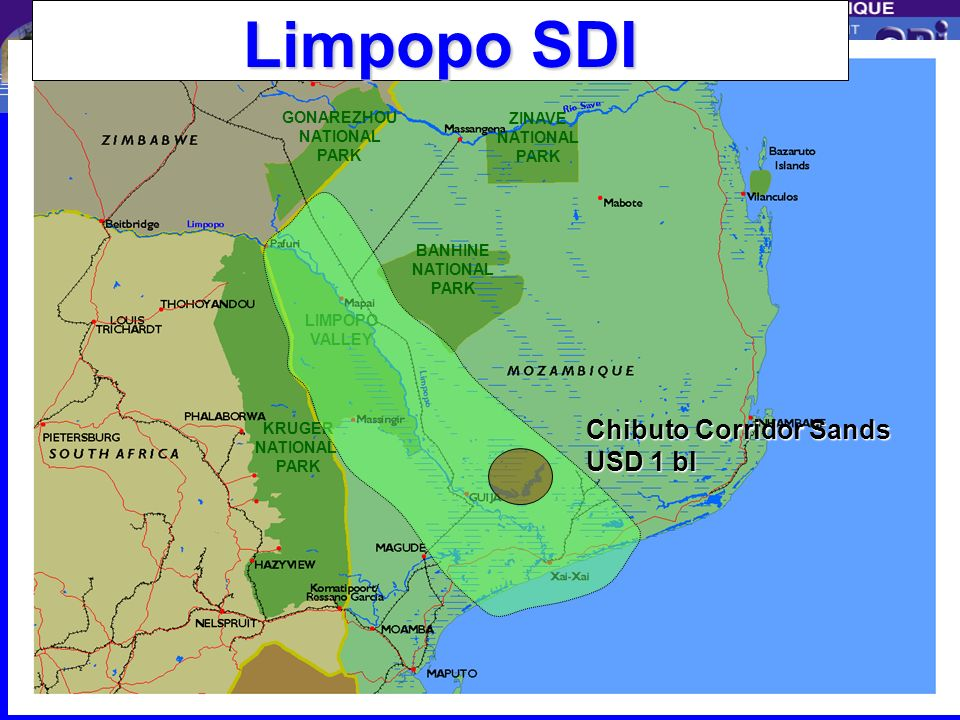Limpopo SDI Chibuto Corridor Sands USD 1 bl GONAREZHOU ZINAVE BANHINE