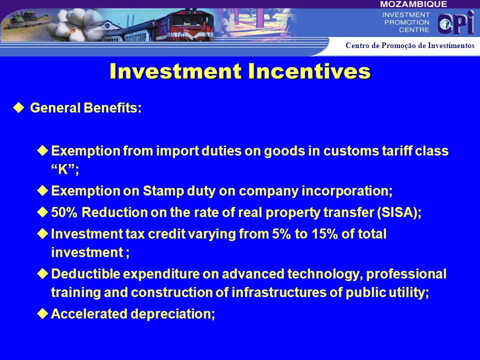 Investment Incentives