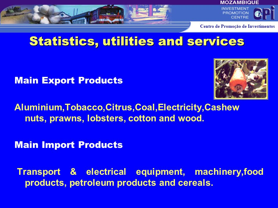 Statistics, utilities and services