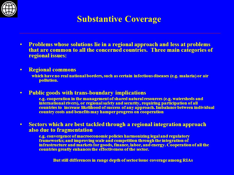 Substantive Coverage