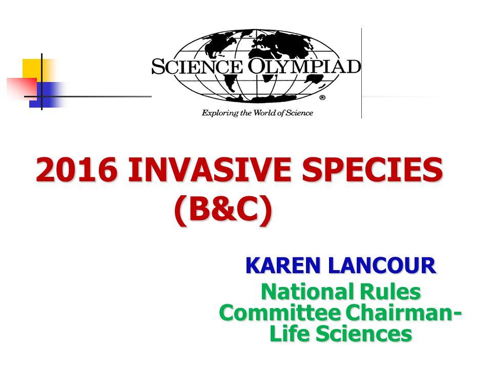 2016 INVASIVE SPECIES (B&C)