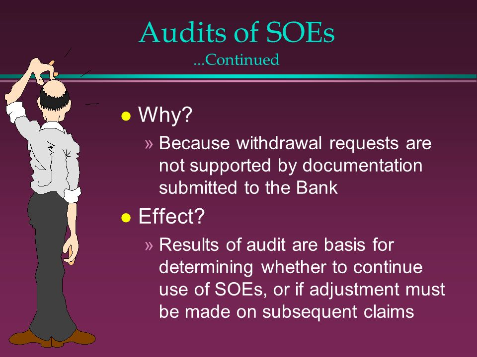 Audits of SOEs ...Continued