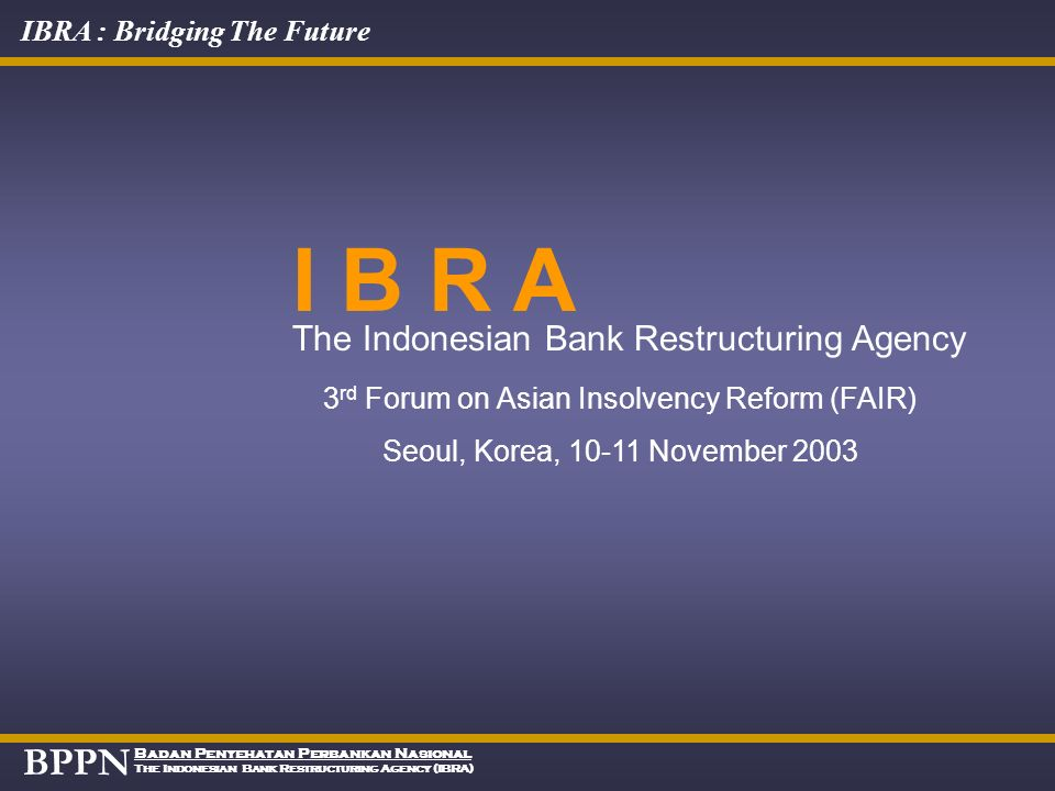 3rd Forum on Asian Insolvency Reform (FAIR)