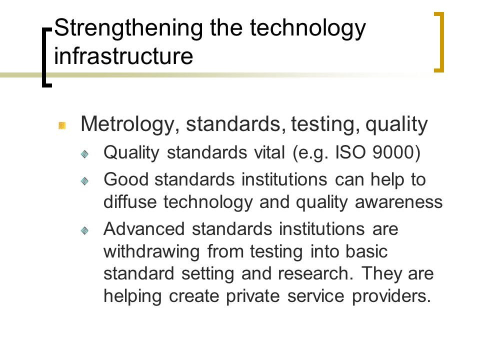 Strengthening the technology infrastructure