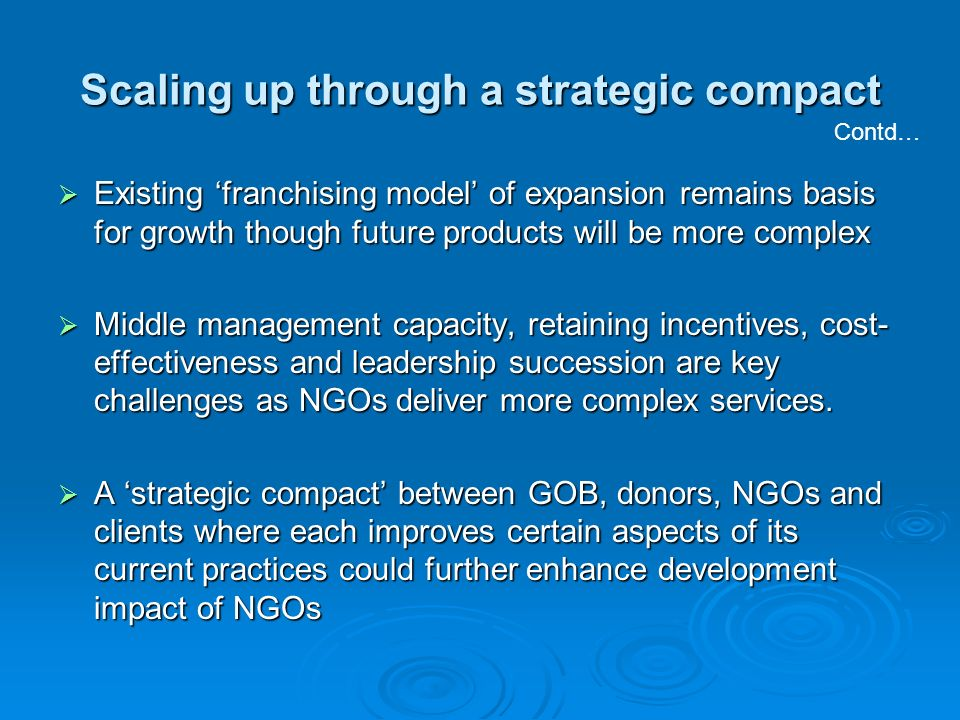 Scaling up through a strategic compact