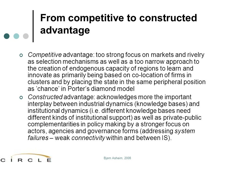 From competitive to constructed advantage