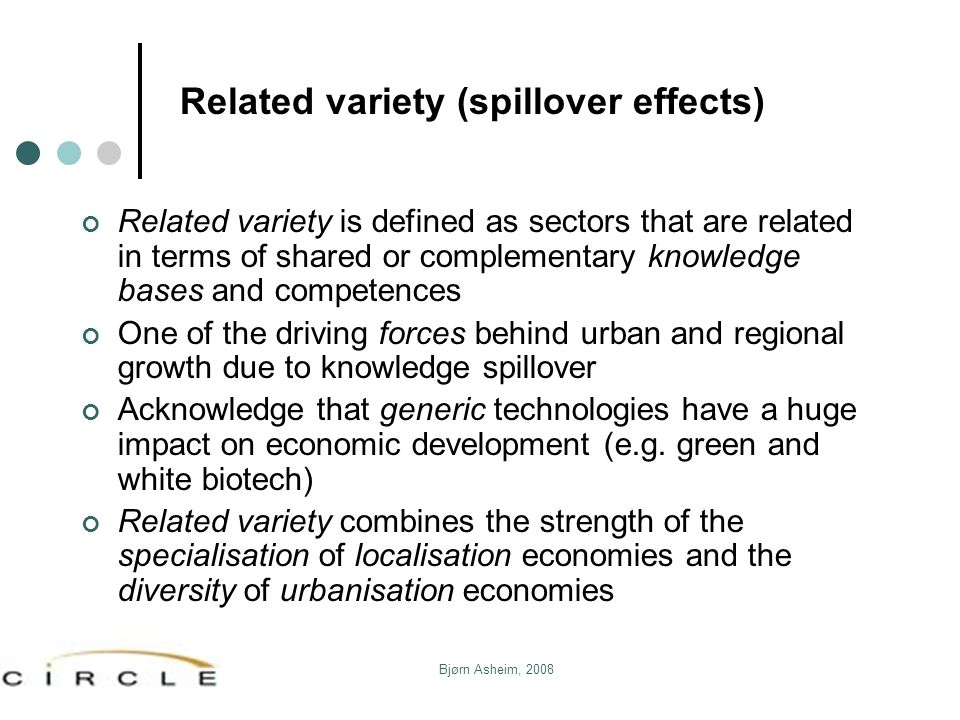Related variety (spillover effects)